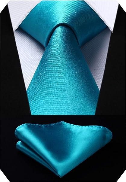HISDERN Panuelo de corbata blanca para hombre Conjunto ...