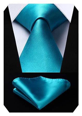 procédés de teinture minutieux sélectionner pour le dédouanement acheter Hisdern Cravate de couleur unie mouchoir mouchoir de mariagehommes  classique cravate & pochette de poche ensemble-plusieurs couleurs