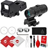"""Circuit City Leapers UTG 3.9"""" Red/Green Dot Sight (SCP-RDM39SDQ) + 3x Flip to Side Magnifier (SCP-MF3WEQS) Combo Kit"""