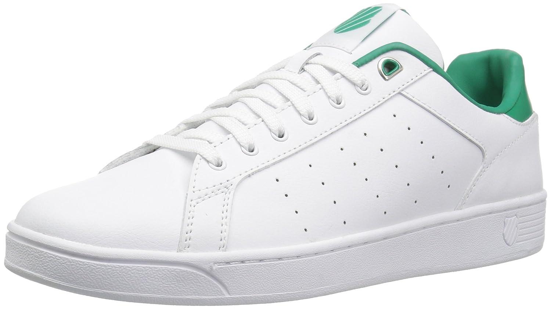 K-Swiss Clean Court CMF, Zapatillas para Mujer 37.5 EU|Blanco (White/Emerald Green)