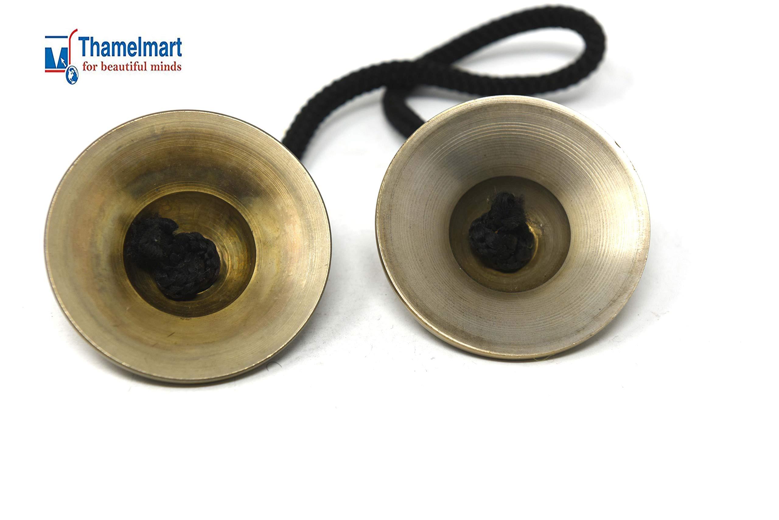 Chimes Hand Tuned to Key of Om 2.5 Inch Om Nama Shiva-Tingsha Tibetan Bell