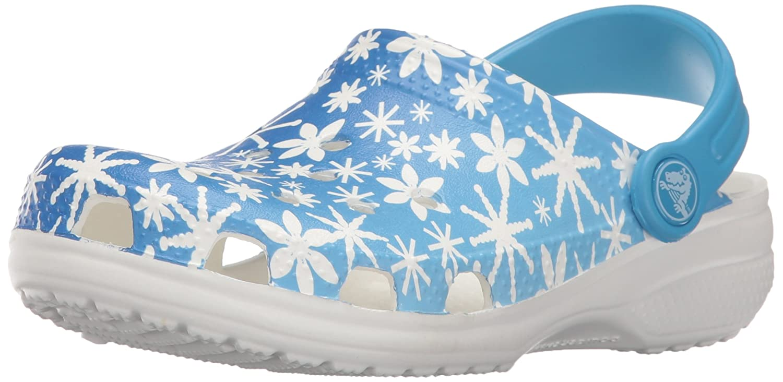 Crocs Classic Snowflake Clog (Toddler/Little Kid) Classic Snowflake Clog - K