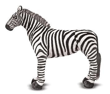 Melissa Doug Giant Striped Zebra Lifelike Stuffed Animal Nearly 3 Feet Tall