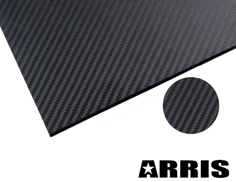 ARRIS 200X300X1.5MM 100% 3K Carbon Fiber Plate Panel Sheet 1.5mm Thickness (Matt Surface)