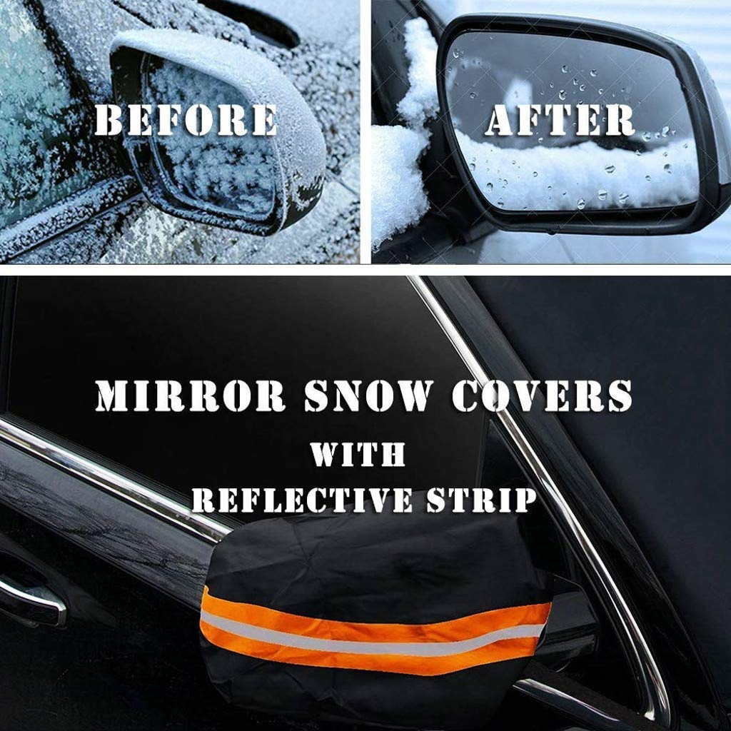 SUV Van or Automobile Premium Quality Exterior Auto Snow Windshield Cover With Magnetic Edges Snow Ice Cover Magnetic Large Car Covers Fits Any Car Truck PerfectoStore Magnetic Windshield Cover