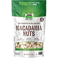 NOW Natural Foods, Macadamia Nuts, Dry Roasted with Sea Salt, Source of Fiber, Gluten-Free and Certified Non-GMO, 9…