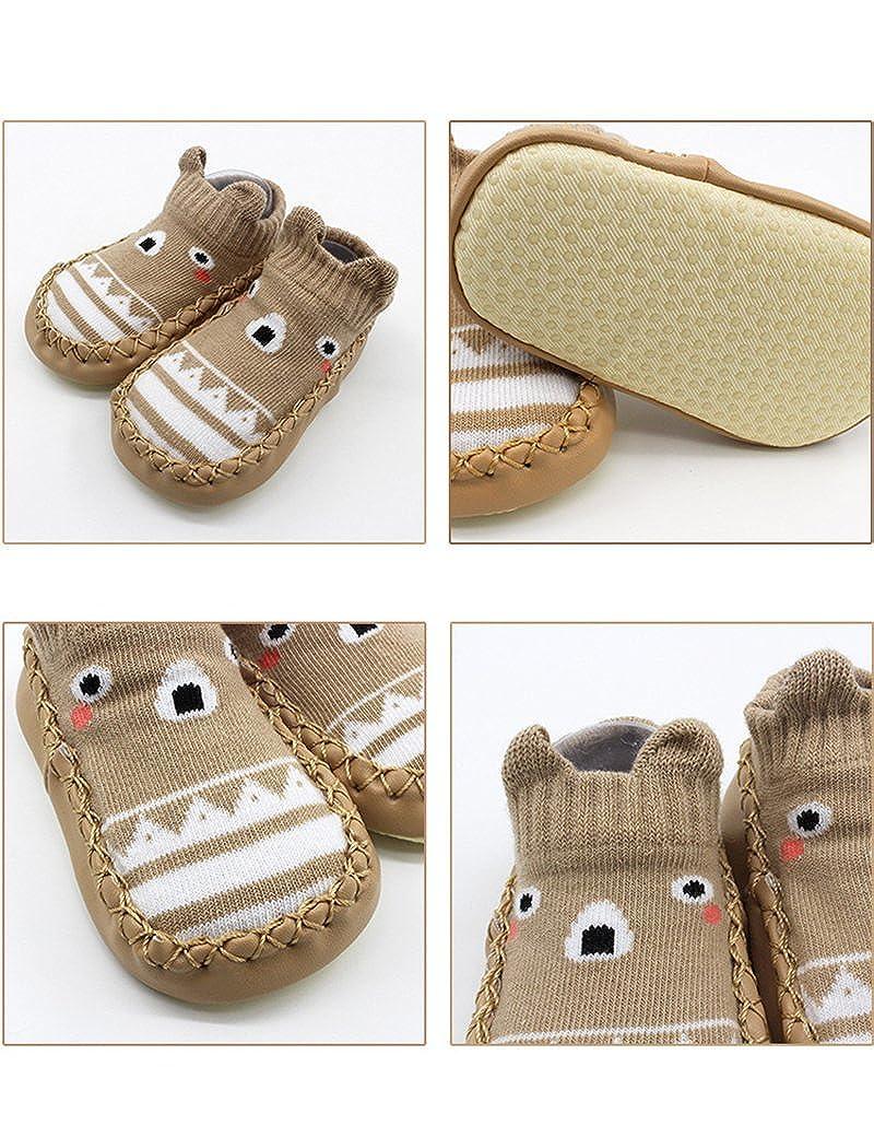 Z-Chen Pack de 3 Pares Zapatillas para Beb/é con Suela Antideslizante