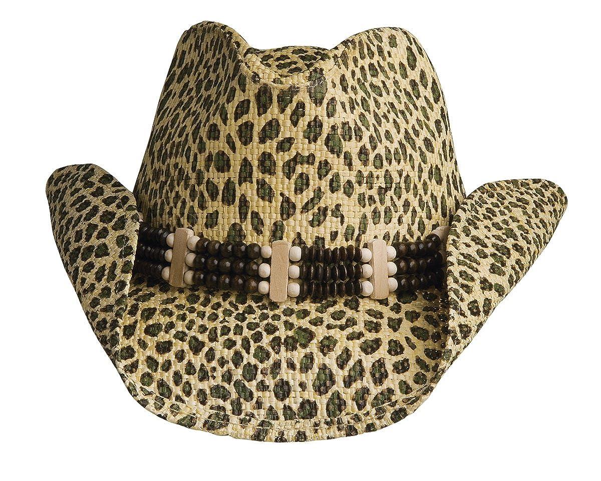 94a59ee1a3505 Conner Hats Women s Leopard Fashion Western Straw Hat