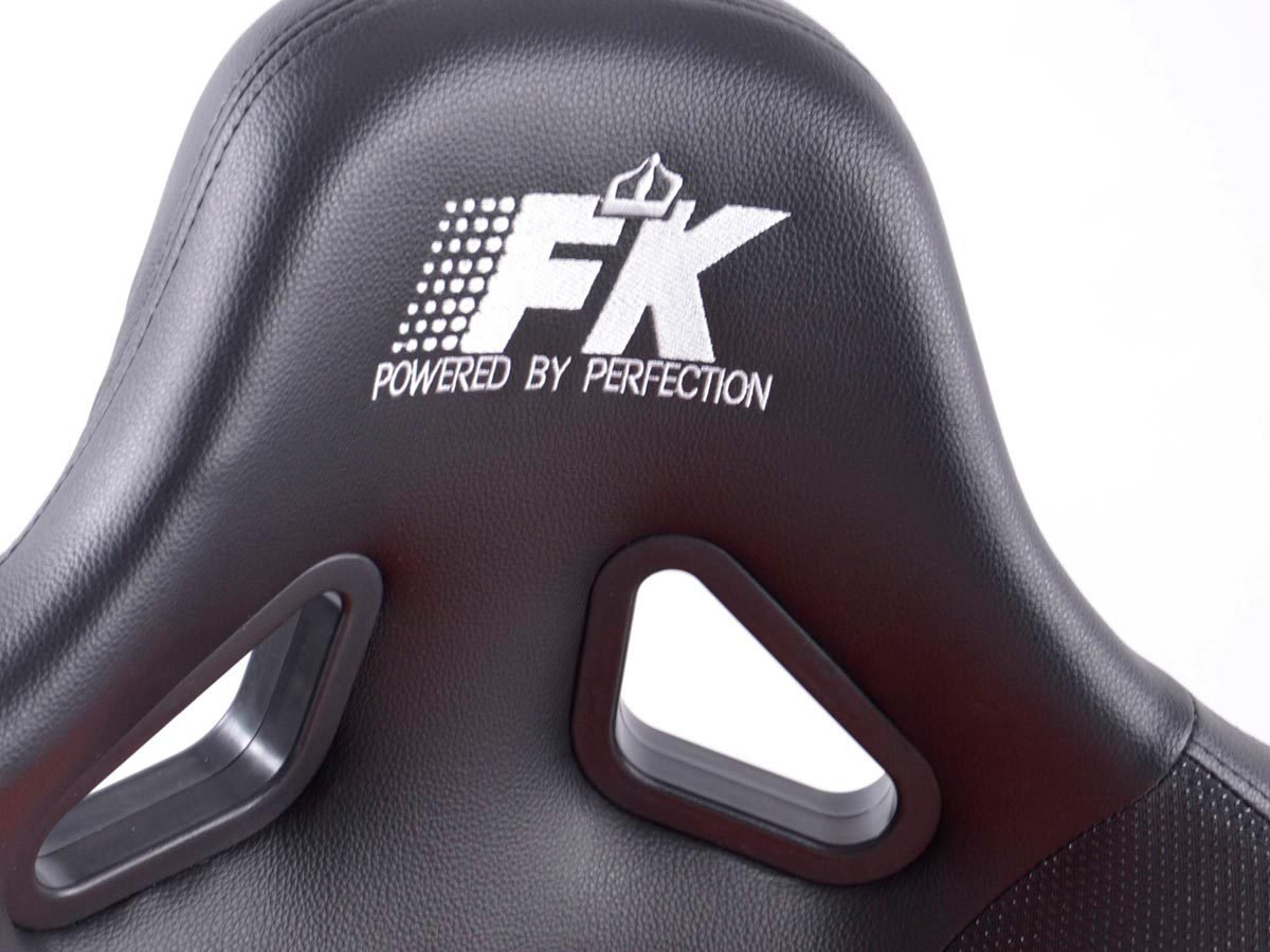 FK-Automotive Sportsitz Set Control 1xlinks 1xrechts rot schwarz