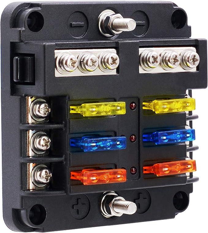 BlueFire - Caja de fusibles para fusibles de coche, coche, barco ...