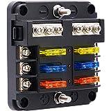 bluefire upgraded 6 way blade fuse box fuse box holder standard circuit fuse  holder box block