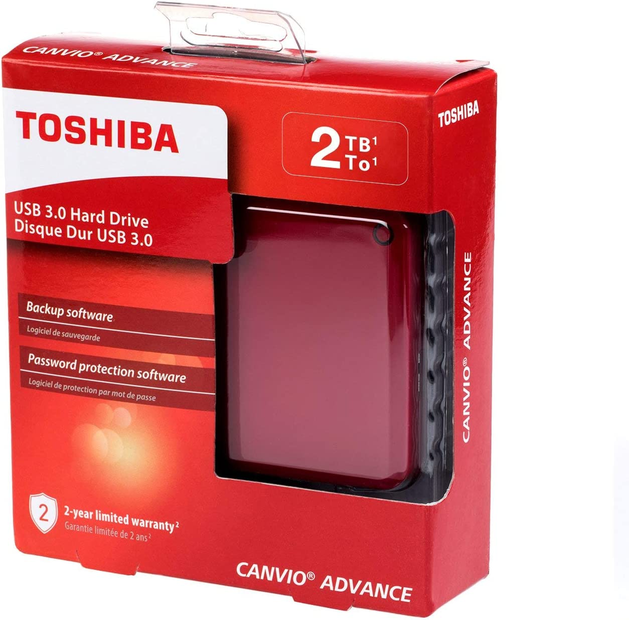 White Canvio Advance 4TB Portable External Hard Drive USB 3.0 Toshiba HDTC940XW3CA