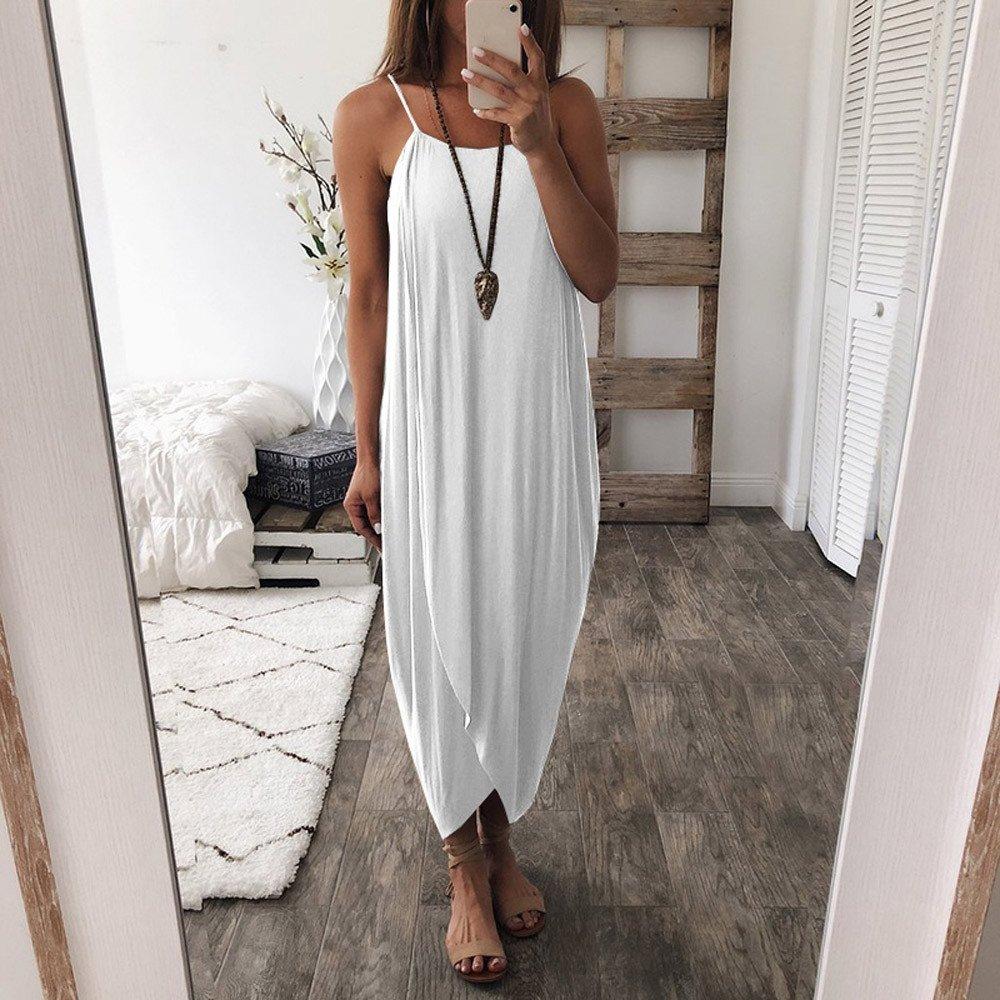 Mosstars Vestidos de baño para Mujer 2019 Vestido Mujeres Correas Sueltas Verano Fiesta Elegante Vestido de Playa Informal Vestidos de Fiesta Mujer ...