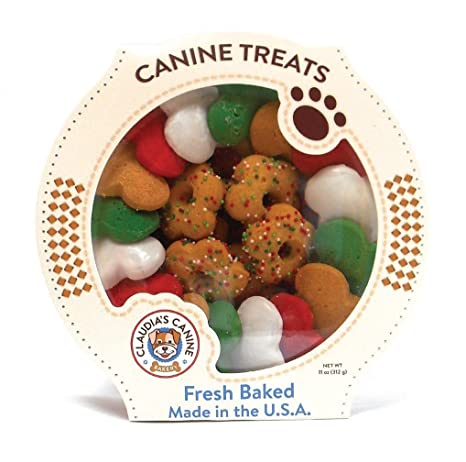 Amazon Com Claudia S Canine Gourmet Christmas Dog Treats 11 Oz