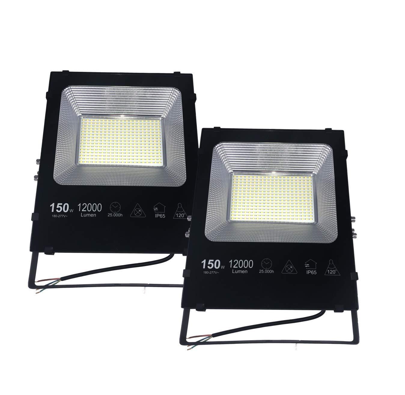 PACK 2 Proyectores LED 150W Luz blanca Fría 6500K: Amazon.es ...