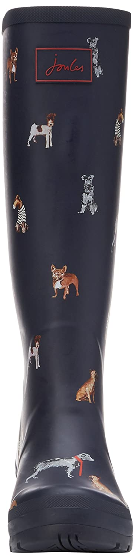 Joules Women's Ajusta Rain Boot B06WGNWB19 5 B(M) US French Navy Cosy Dogs