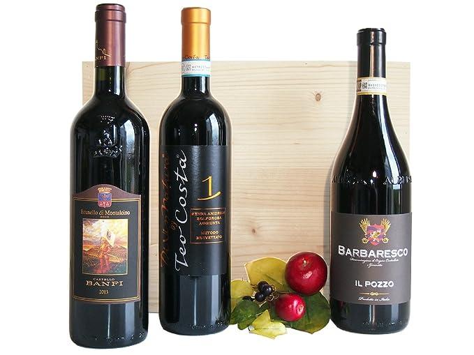 14805b9116 Regalo Vini Pregiati In Cassetta Legno - Confezione di Vino Per Uomo e  Donna Come Idea