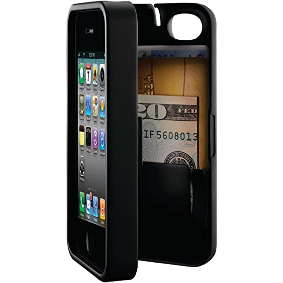 31c6599f15118e Amazon.com  eyn Wallet Storage case for Apple iPhone 4 4s (Black ...