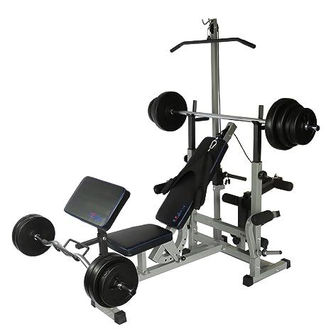 Uni Best Banco de pesas Fuerza Station Fitness Center pro508 con largo de y C0002 Juego