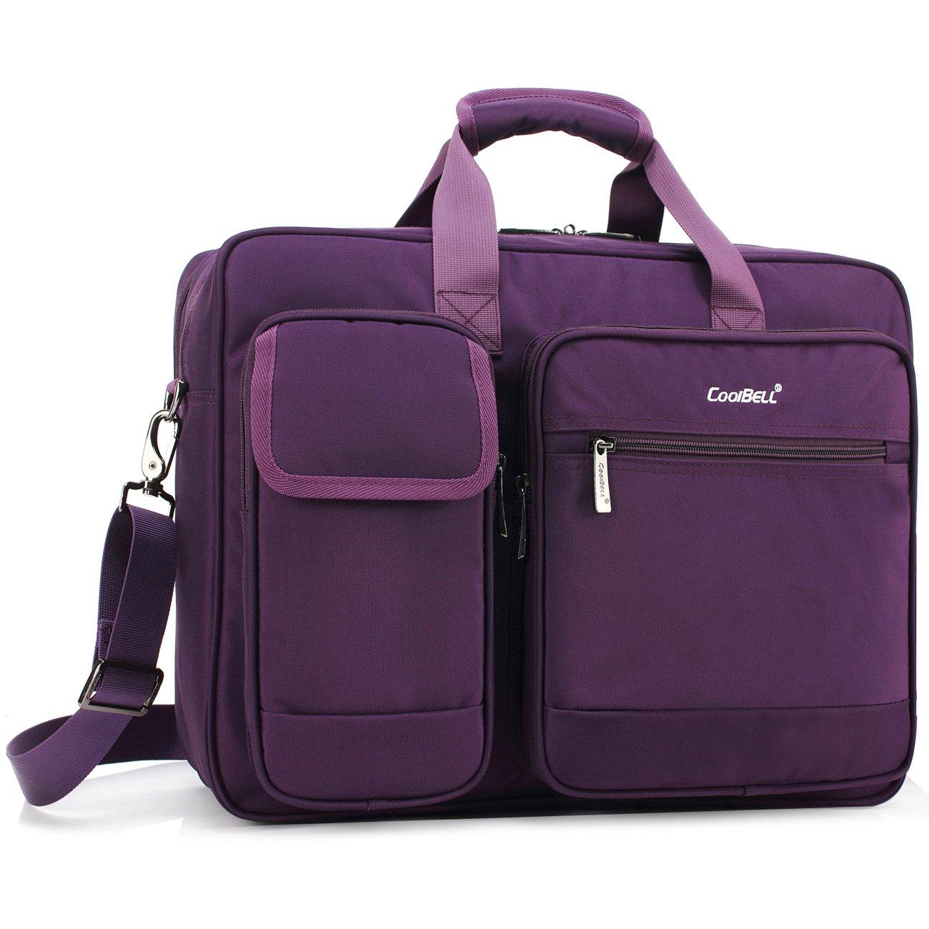 morado morado 17.3 Inches negro Coolbell 17,3/pulgadas port/átil malet/ín bolsa de mensajero protectora Nylon bolsa de hombro multifuncional bolso de mano para port/átil//Ultrabook//tablet//MacBook//Dell//HP//