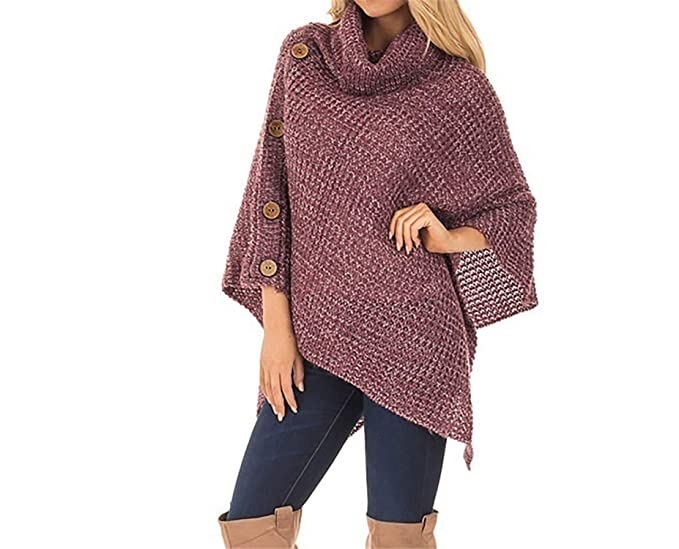 Women's Clothing Women Cloak Hood Sweaters Knit Poncho Batwing Top With Cape Coat Tassel Outwear Cape Knit Poncho With Batwing Sweaters Top Latest Fashion Sweaters