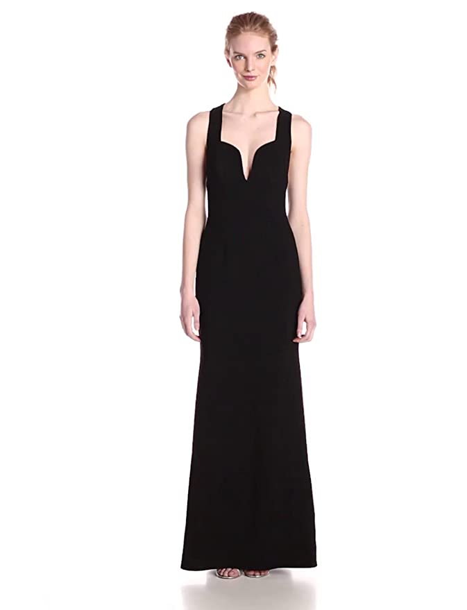 d18335e25cc Amazon.com  Jill Jill Stuart Women s Sleeveless Plunging-V Neck Elastane  Gown