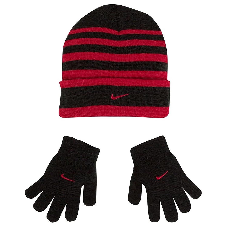 8e259612b9e Nike Big Boys Striped Knit Beanie Glove Set