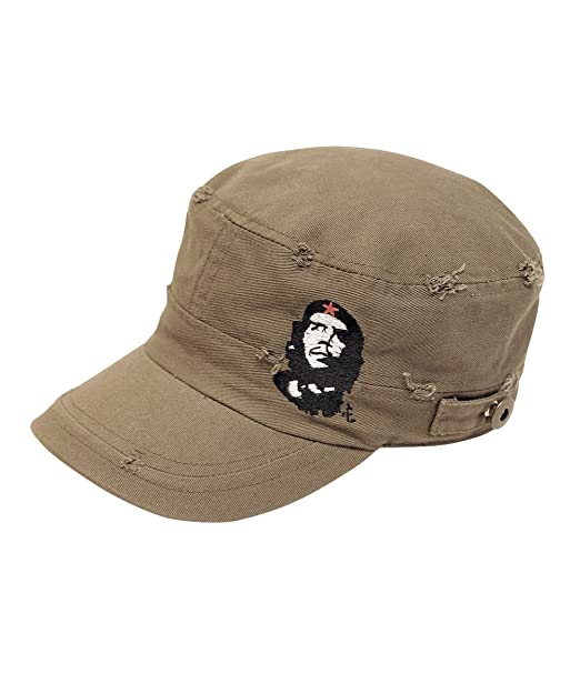 9e899d891d8 Amazon.com  Che Guevara Store The Distressed Military Cap - Olive Green - w emb  Che   Star - Medium  Clothing