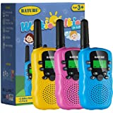 Walkie Talkies for Kids Toys 22 Channels 2 Way Radio Toy 3 KM Long Range with Backlit LCD Flashlight, Best Gifts for 3…