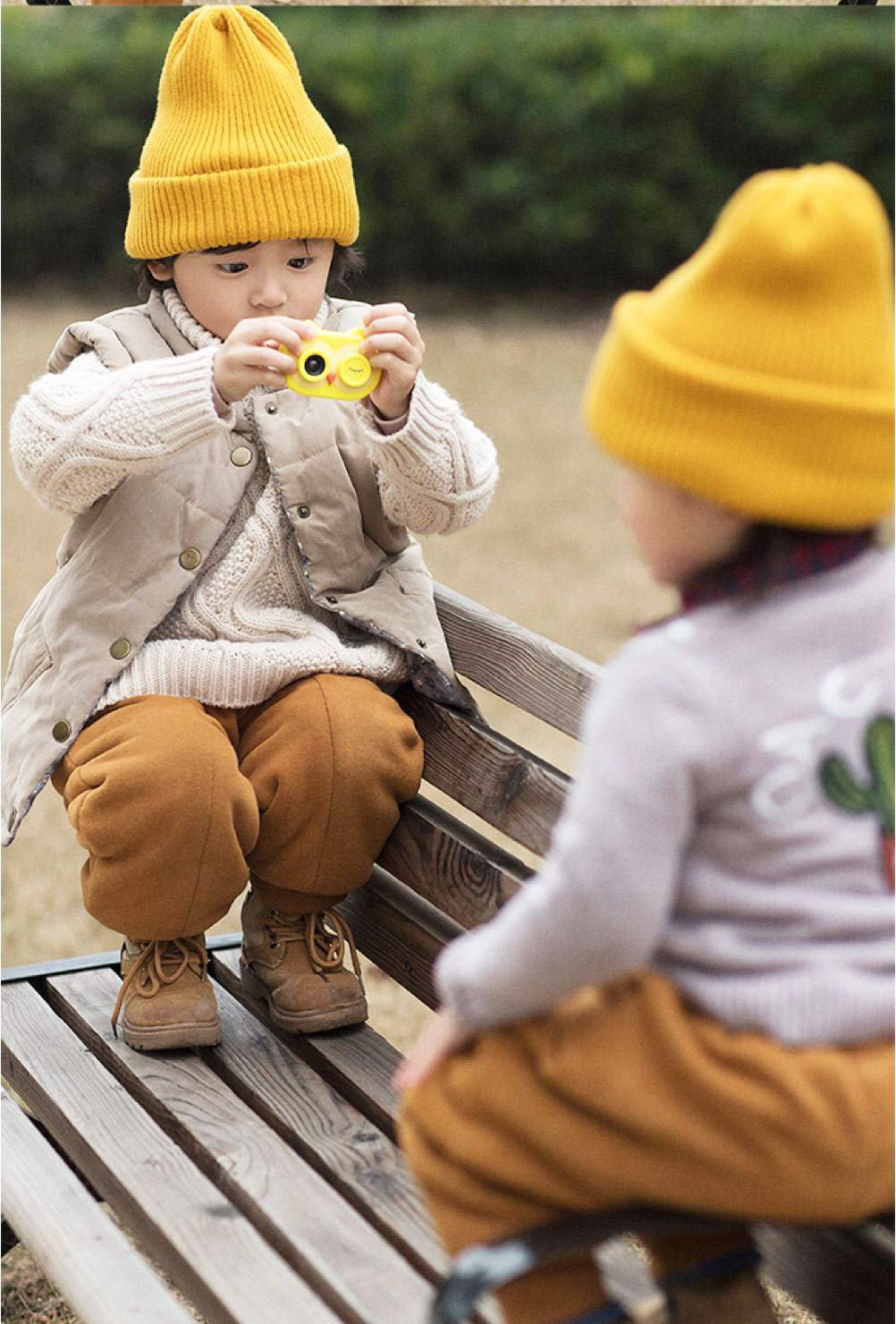 ISHOWStore Mini WiFi Camera for Children HD 8MP External SD Card Digital Video Shakeproof Camcorder for Children with Free 16G Memory Card 82x58x31mm (Yellow Owl) by ISHOWStore (Image #6)