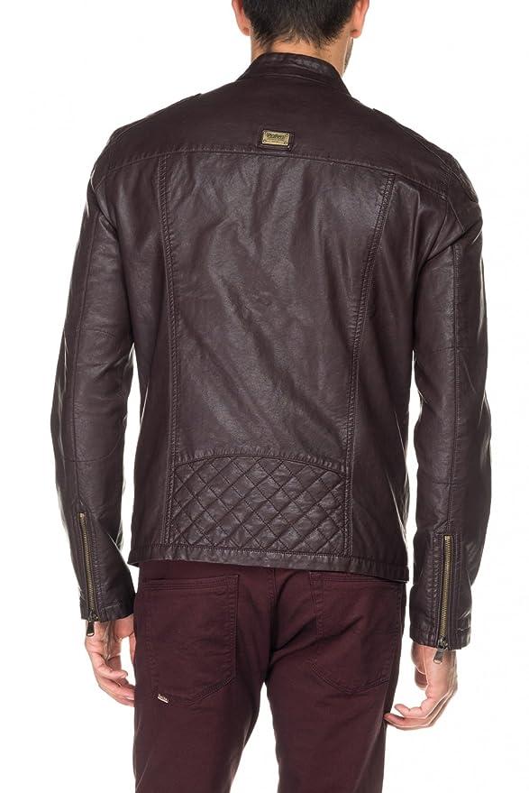 Blouson style biker en cuir synthétique Salsa en rose pour
