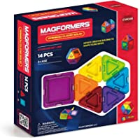 Magformers Rainbow Clear Solid Set (14-pieces) Basic Magnetic Building Blocks, Educational Magnetic Tiles Kit , Magnetic…