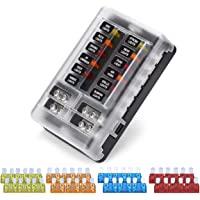 amazon best sellers best automotive replacement fuse boxes vetomile 12 way blade fuse block independent circuits 32v fuse box led indicator for
