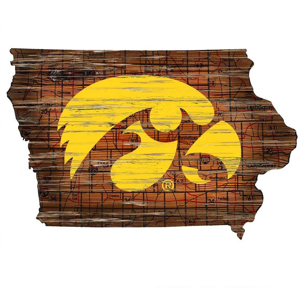 Fan Creations Iowa Cutout Sign (State), Multi