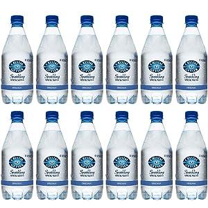 Crystal Geyser Unflavored Sparkling Spring Water PET Plastic Bottles, BPA Free, No Artificial Ingredients or Sweeteners, 18 Fl Oz, 12 Pack