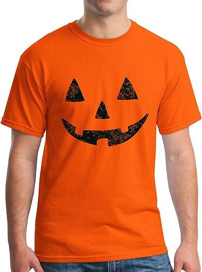 c181e9f3 Amazon.com: Jack O Lantern Tee Halloween Pumpkin Costume T-Shirt Orange:  Clothing