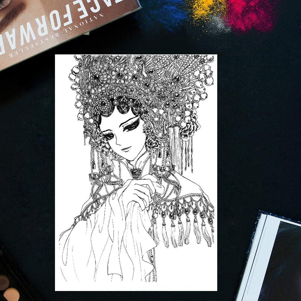 mdhsh Tampon Transparent en Silicone pour Scrapbooking Motif Femme Noble