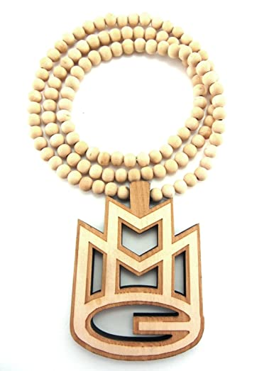 Amazon large wooden rick ross mmg natural good quality wood large wooden rick ross mmg natural good quality wood pendant chain aloadofball Gallery