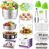 Accessories for Instant Pot, Accessories Compatible with 6,8 qt Instant Pot, Ninja Foodi 8 qt - 2 Steamer Baskets…