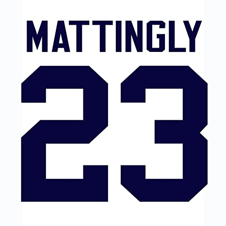 brand new 328d0 a2f96 Don Mattingly New York Yankees Jersey Number Kit, Authentic ...