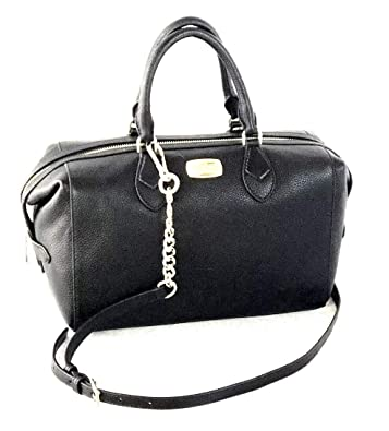 f8a989347 Image Unavailable. Image not available for. Color: Michael Kors Grayson  Large Convertible Black Pebble Leather Satchel Bag
