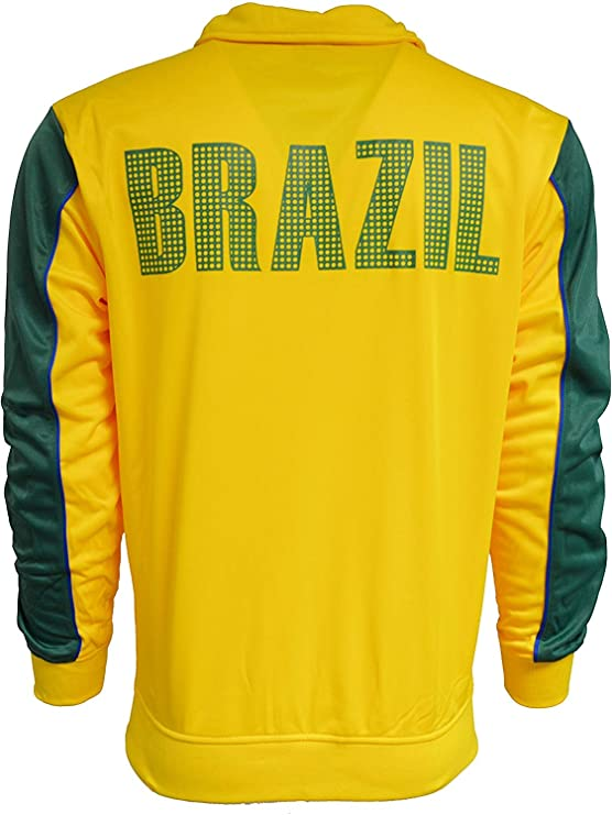 Rhinox Brazil Football Jacket Brazil Soocer Track Jacket