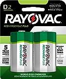 RAYOVAC D 2-Pack RECHARGEABLE PLUS Batteries, PL713-2 GENE