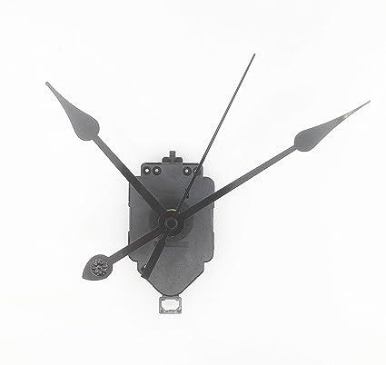 Reliable_E Extra Long Shaft Pendulum Clock Movement Kit Replacement Parts  for DIY Clock (Hand-H)