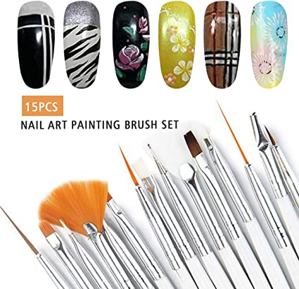 15 pinceles para uñas/maquillaje, Saviland creativo diseño de uñas ...