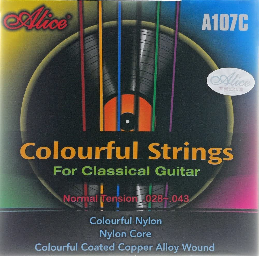 Cuerdas de nylon alice, cuerdas para guitarra clásica (a color ...
