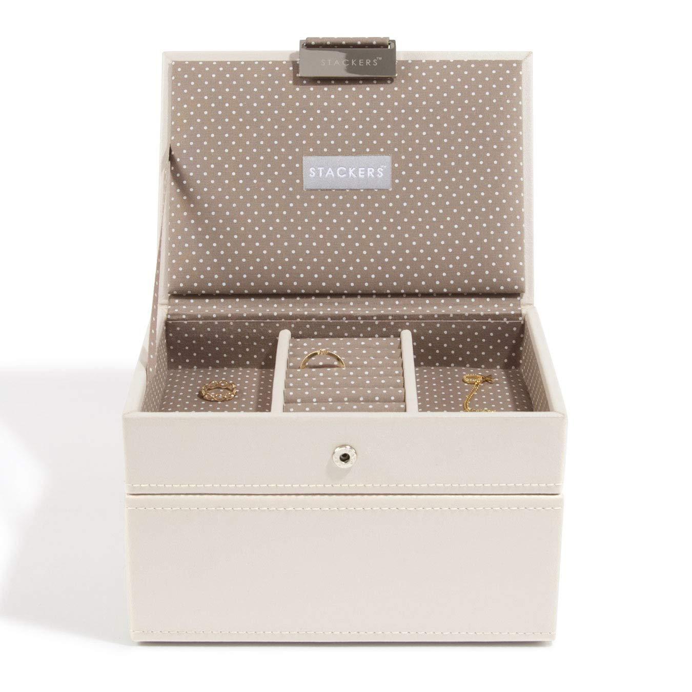 portagioie piccolo con 2 scomparti Cream Stackers