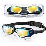 Portzon Kids Swim Goggles Anti Fog Swimming Goggles Clear No Leaking for Child