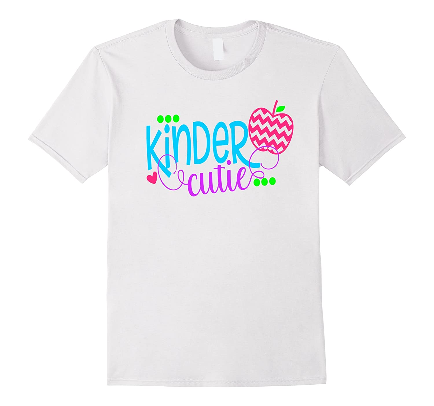 First Day School Shirt Apple Kids Kinder Cutie Kindergarten-TJ