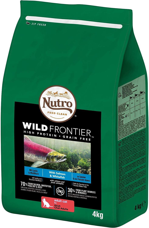 Pienso Gato Adulto Salmón y Pescado Blanco 4kg Wild Frontier Nutro: Amazon.es: Productos para mascotas